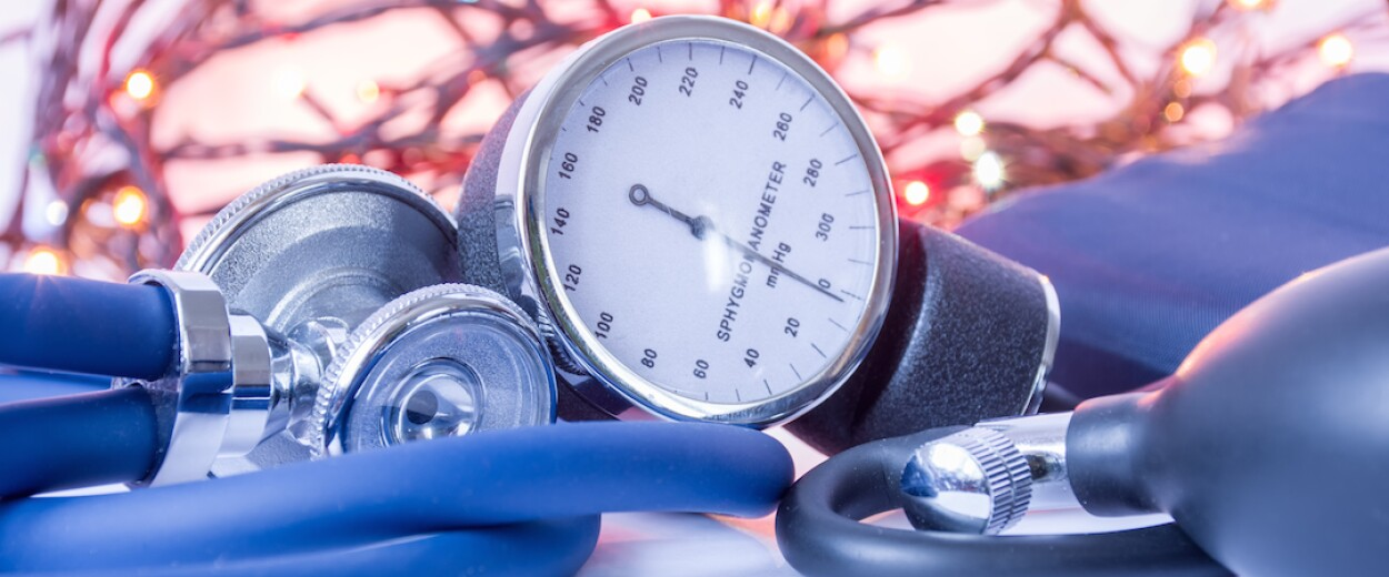 Close up of blood pressure monitor
