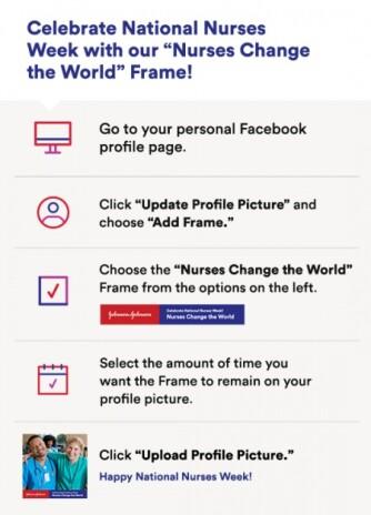 Facebook Frame Instructions graphic logo
