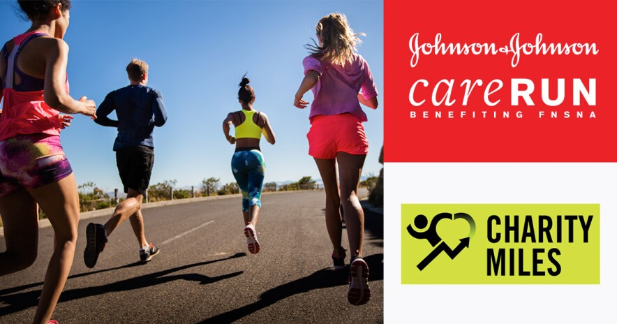 Care Run promo banner with image of people running