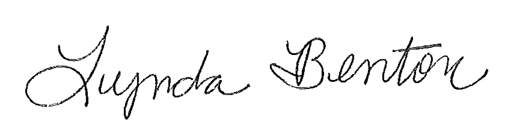 Lynda Benton signature