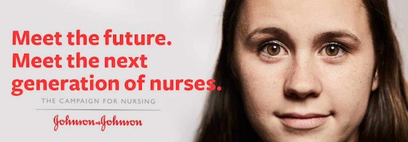 Campaign for Nursing promo banner with woman smiling at camera