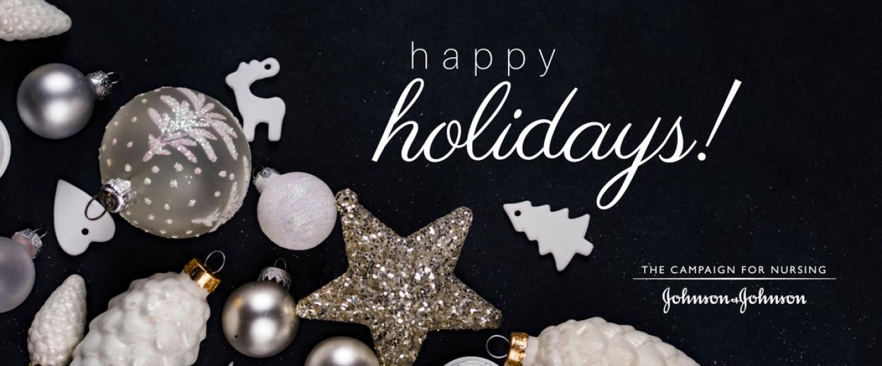 Happy holidays greeting card promo